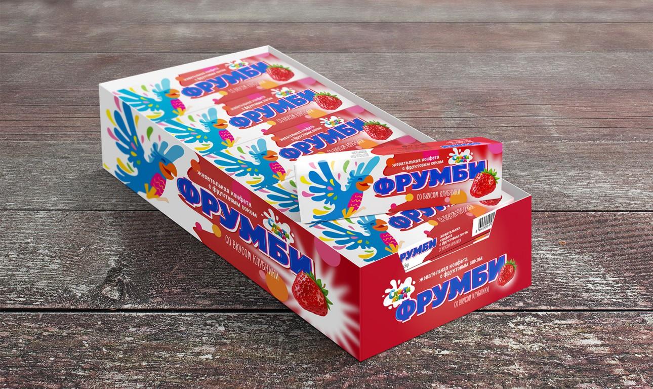 Концепция дизайна упаковки для жевательных конфет «ФРУМБИ»