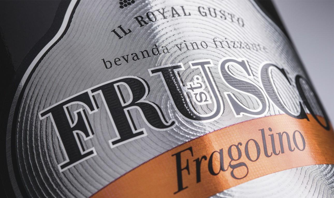 Дизайн этикетки для игристого вина ST.FRUSCO