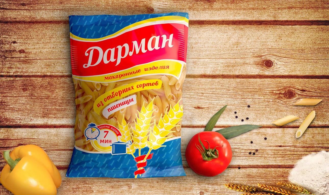 Дизайн упаковки пищевых продуктов «Дарман»