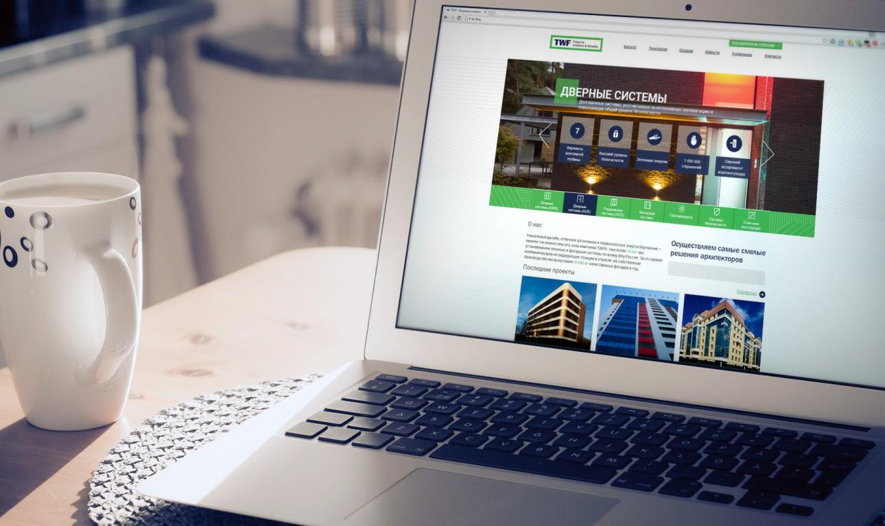 Сайт для производителя фасадных систем TWF