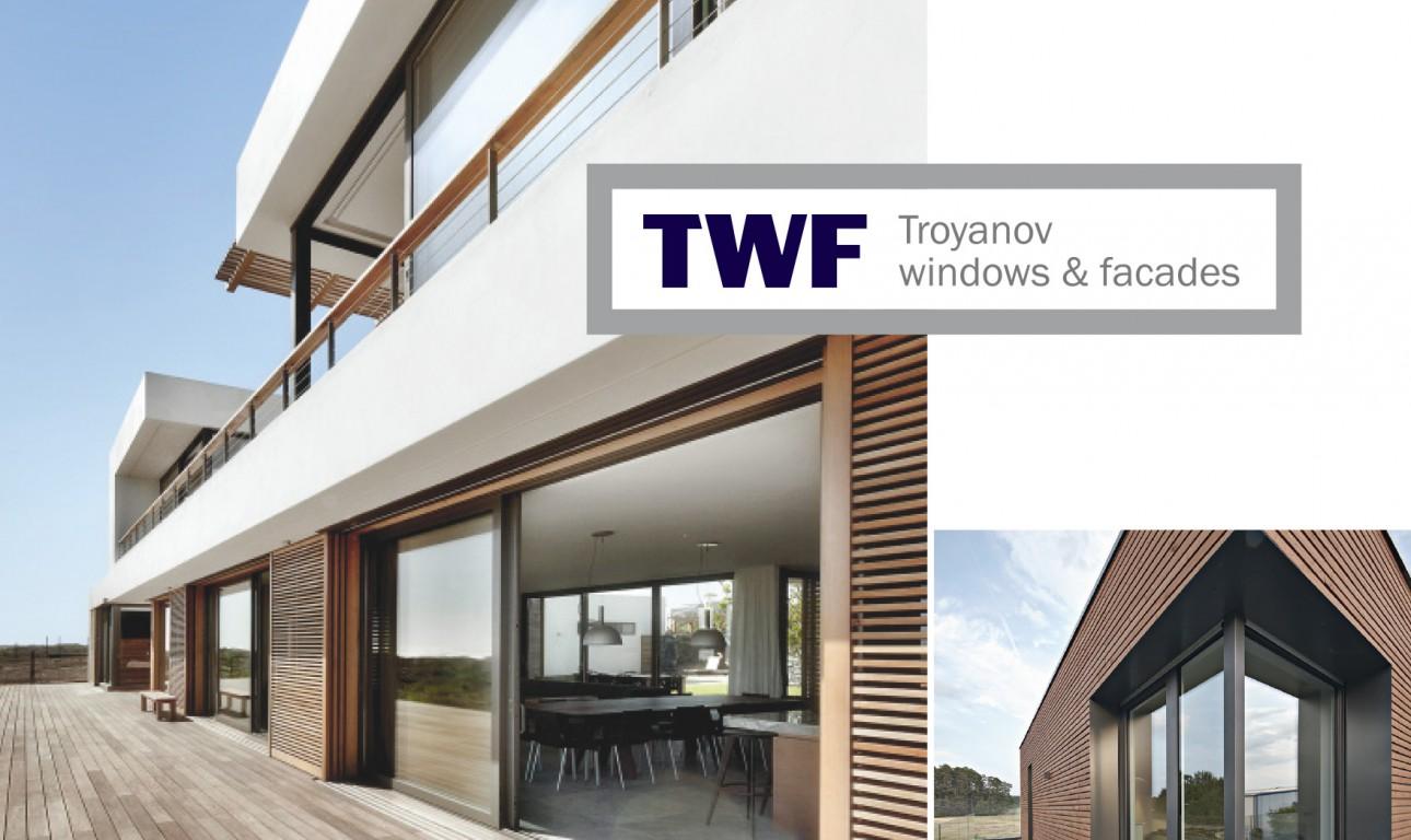 Фирменный стиль предприятия, занимающегося фасадными системами TWF