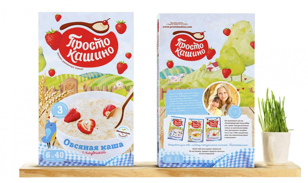 Упаковка для овсяной каши «Простокашино»